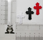 Iron On Patch Applique - Cross Mini Satin *Colors*