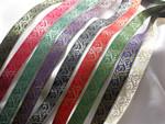 """Jacquard Ribbon 13/16"""" Metallic Vine *Colors*"""