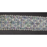 "Braid 1 1/4"" Ivory & Opalescent Sparkle Per Yard"