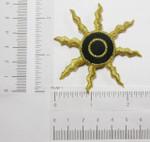 Iron On Patch Applique - Black Hole Sun