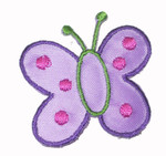 "Iron On Patch Applique - Butterfly 1 5/8"" Lilac"