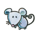 Iron On Patch Applique - Mouse