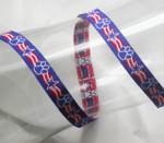 "Jacquard Ribbon 1/2"" Patriotic Paws"