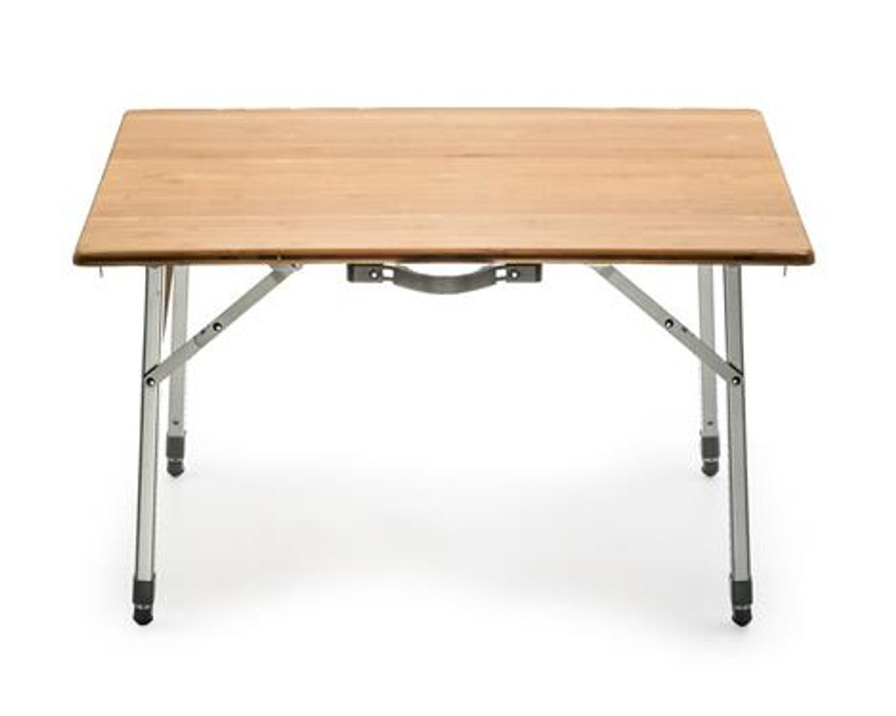 Bamboo Folding Table Adjustable Height