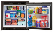 AC/DC Refrigerator+Freezer with Black Door, 2.7 cf