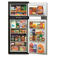 RV refrigerator interior