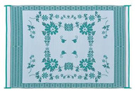 Reversible Patio Mat, Green Floral - Size: 6' x 9'