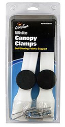 Awning Canopy Clamps, White