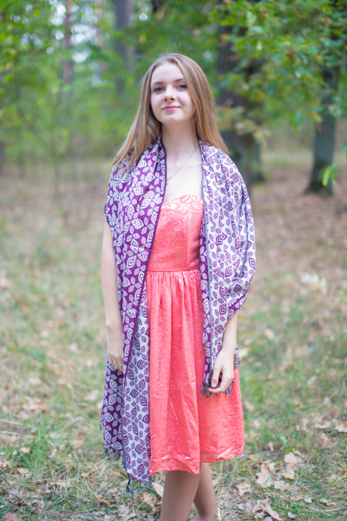 Floral Two-Sided Pashmina Warm Winter Shawls