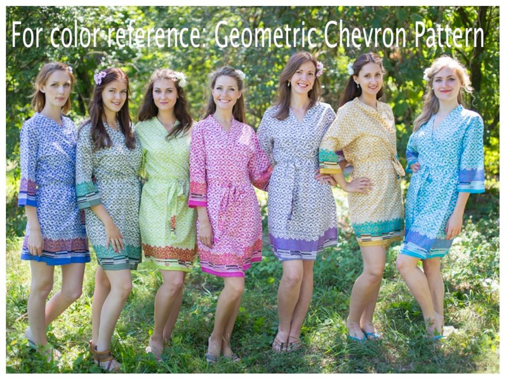 Geometric Chevron Full Length Maternity Robe