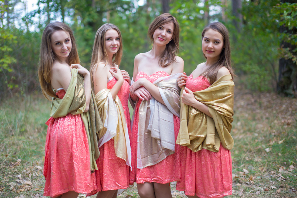 Gold Shimmer Wedding Shawls and Scarves