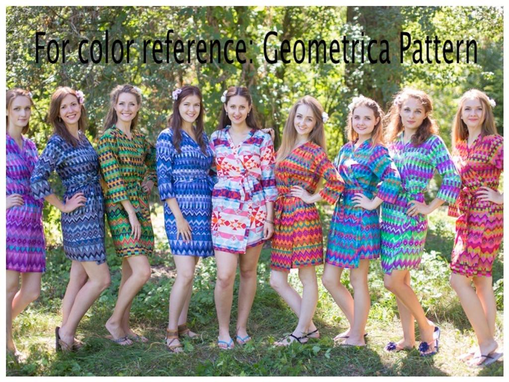 Geometrica Full Length Maternity Robe