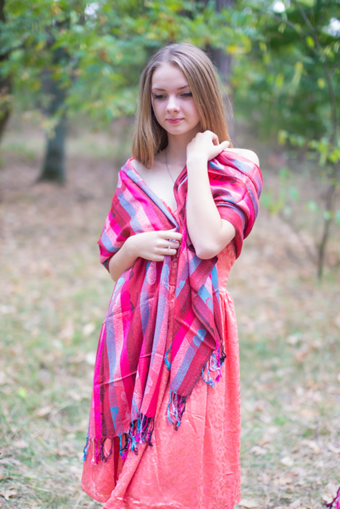 Multicolored Butterfly Striped Pashmina Warm Shawls