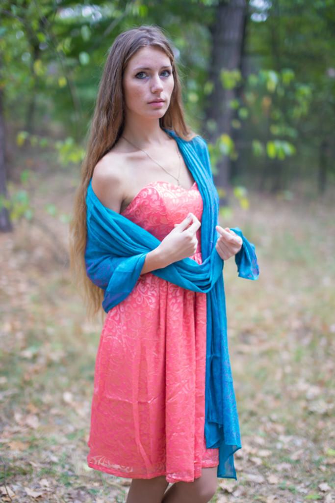 Silk Floral Chiffon Iridescent Scarves