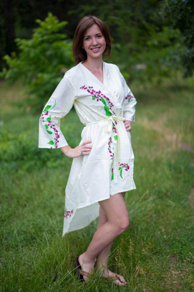 Climbing Vines High Low Bridesmaids Robes