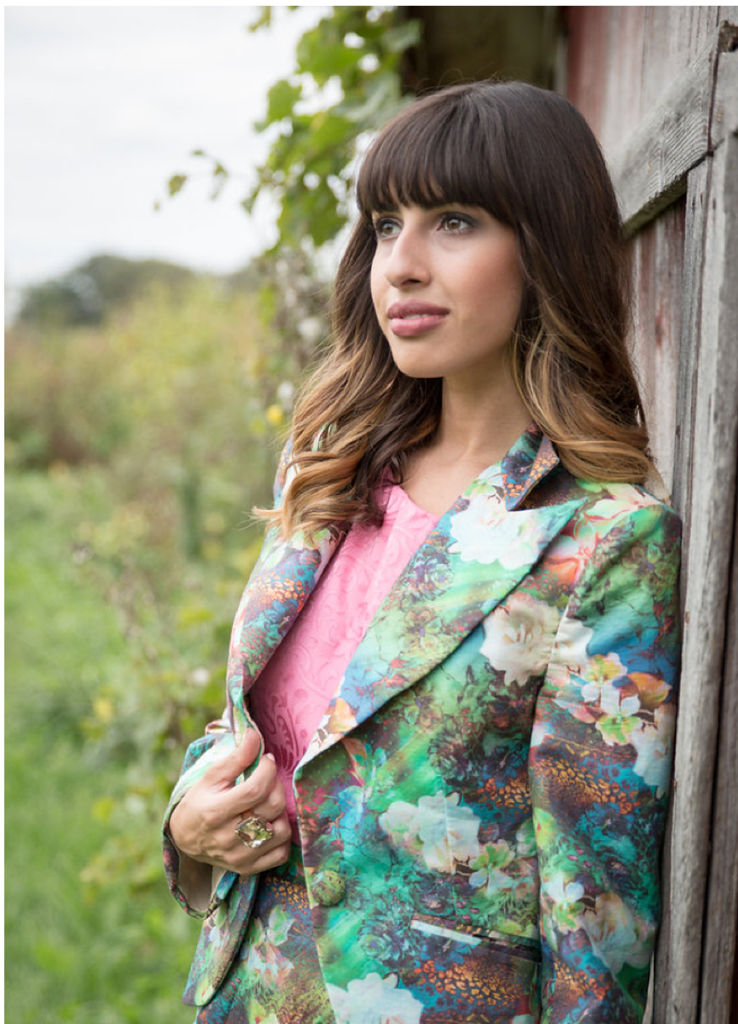 Bridesmaids Floral Suit for a Winter Wedding - Color Me Green