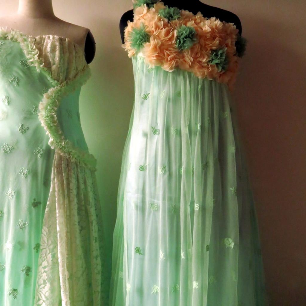 Dreamy Mint Wedding Palette Lace Bridesmaids Dresses