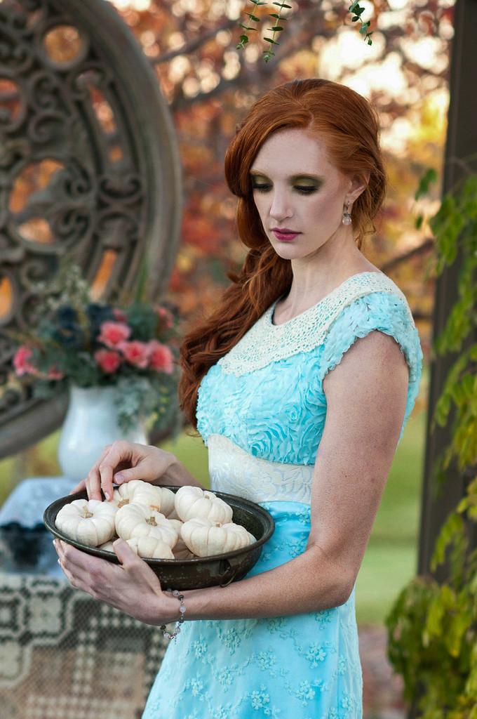 Elegant Turquoise Blue Haute Couture Lace Dress