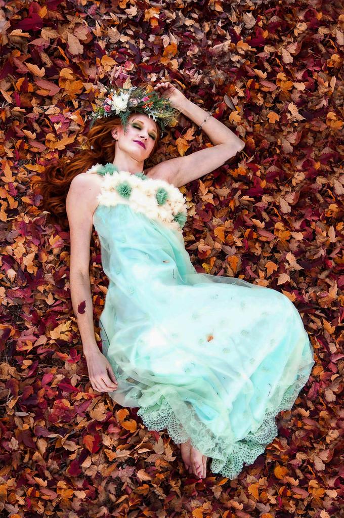 Enchanting Mint Haute Couture Lace Dress