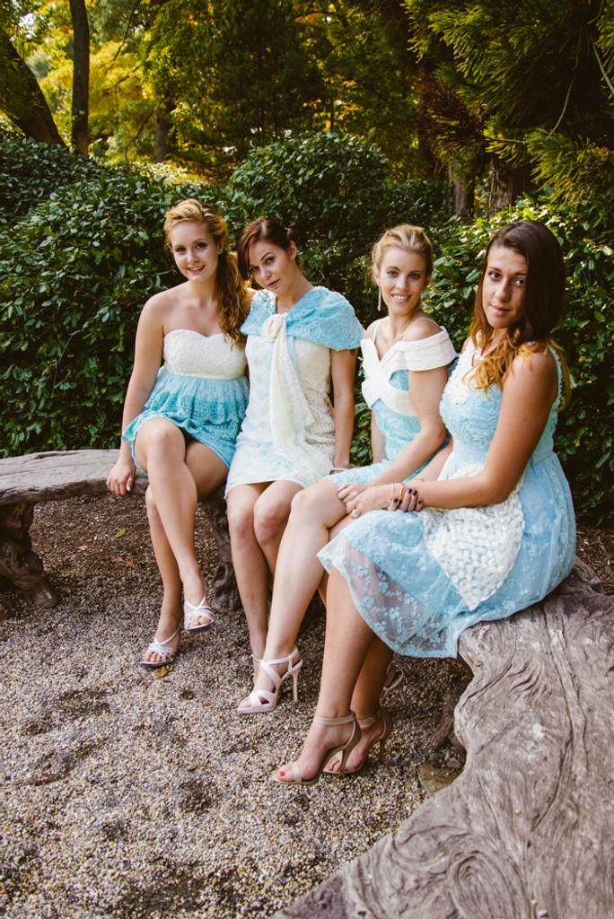 Lacey Turquoise Wedding Palette Bridesmaids Dresses