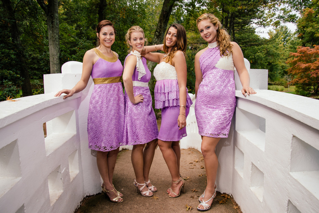 Dreamy Lilac Wedding Palette Bridesmaids Dresses