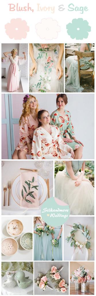 Blush, Ivory and Sage Wedding Color Theme