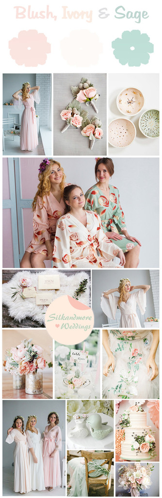 Blush, Ivory and Sage Wedding Colors