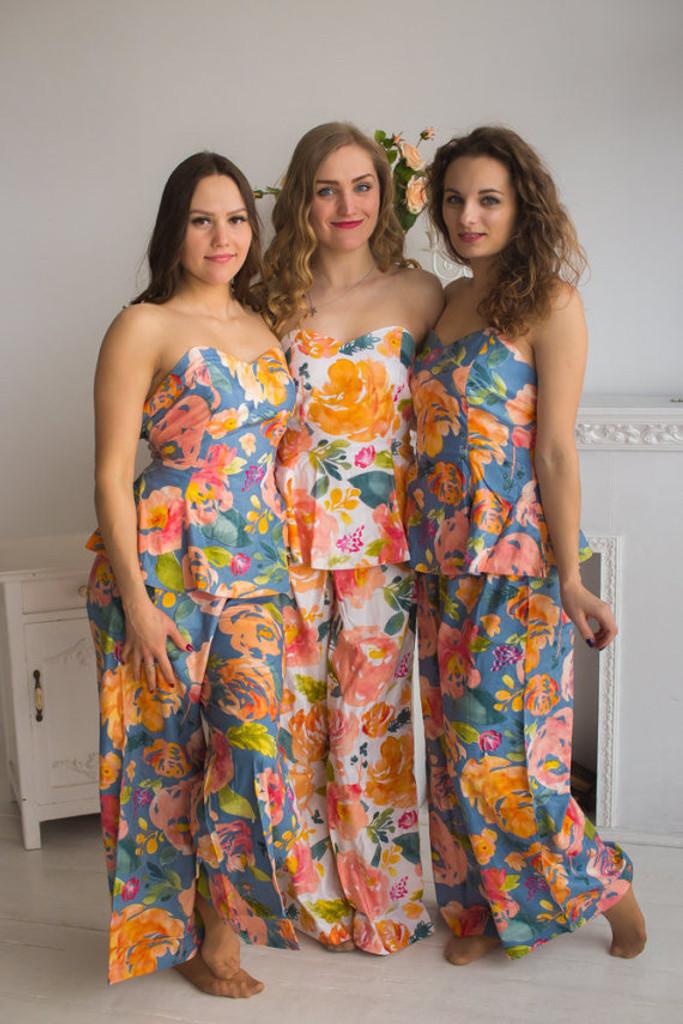 Strapless Style PJs in Her Petal Garden Pattern_FL