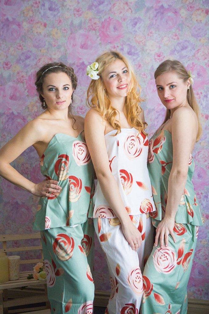 Strapless Style PJs in a rumor among fairies Pattern_Full length