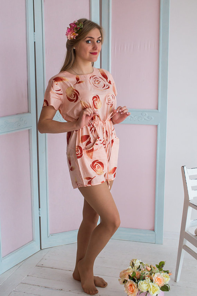 Drawstring Style Bridesmaids Rompers in a rumor among fairies Pattern