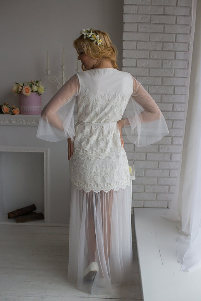 Illusion Skirt White Bridal Robe from my Paris Inspirations Collection