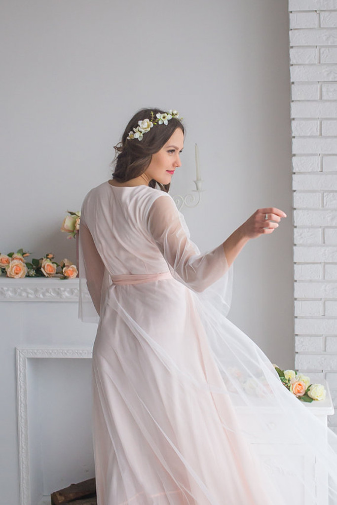 Lacey Blush Bridal Robe from my Paris Inspirations Collection - Sweetly Scalloped in Blush