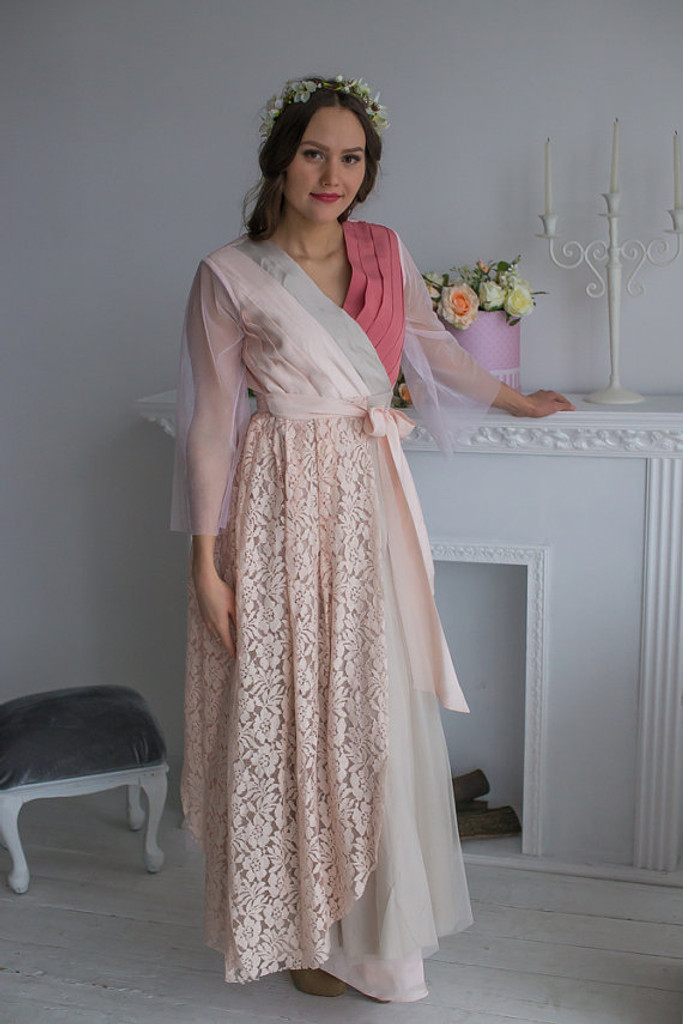 Mismatched Bridal Robe in Blush from my Paris Inspirations Collection
