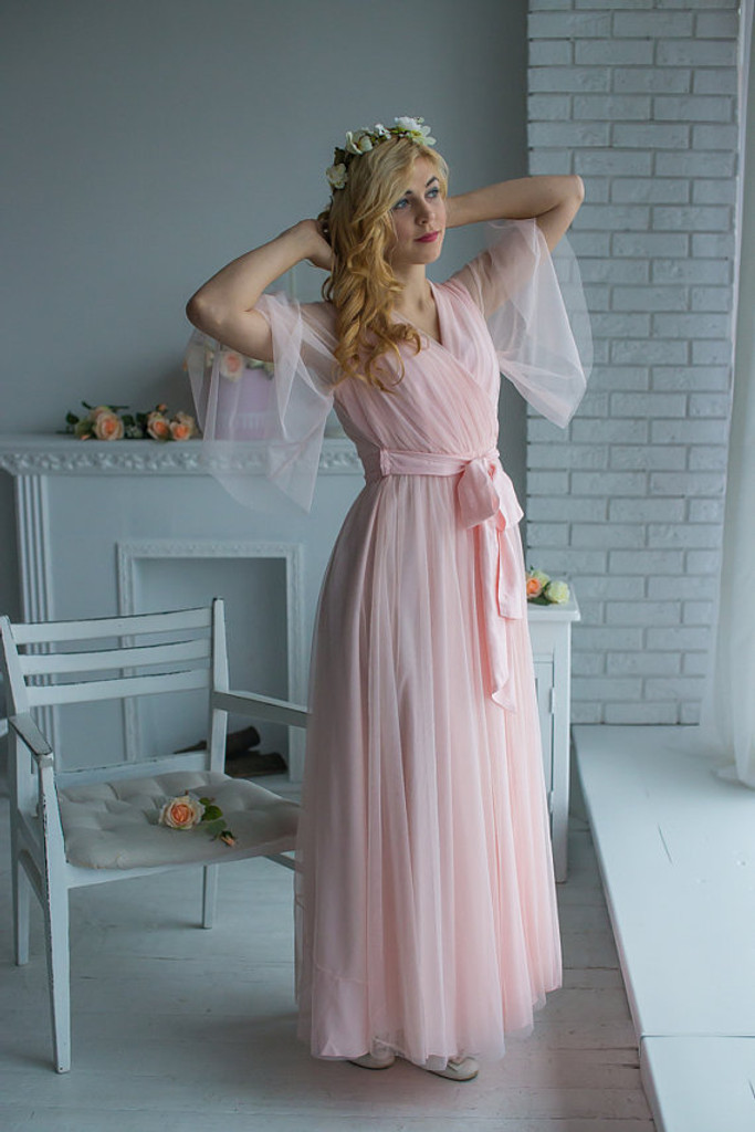 Bridal Robe in Soft Blush from my Paris Inspirations Collection - Minimal Mojo in Soft Blush