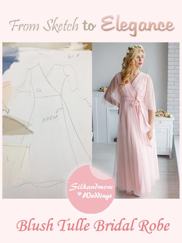 Blush Bridal Robe from my Paris Inspirations Collection - Minimal Mojo in Blush