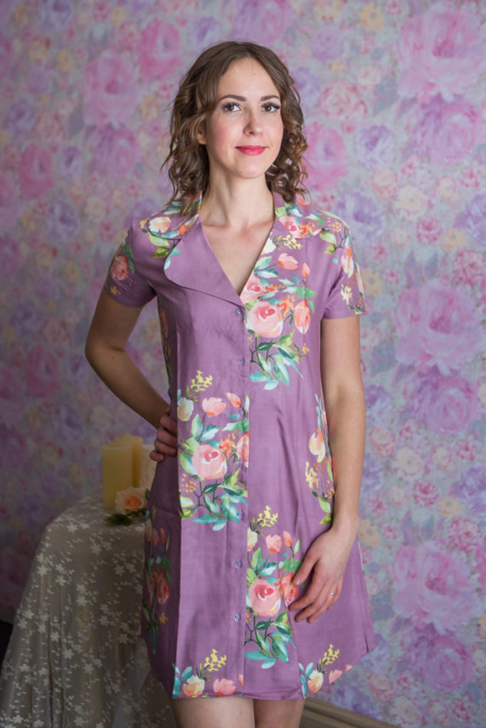 Dreamy Angel Song Patterned Bridesmaids Button down Shirts