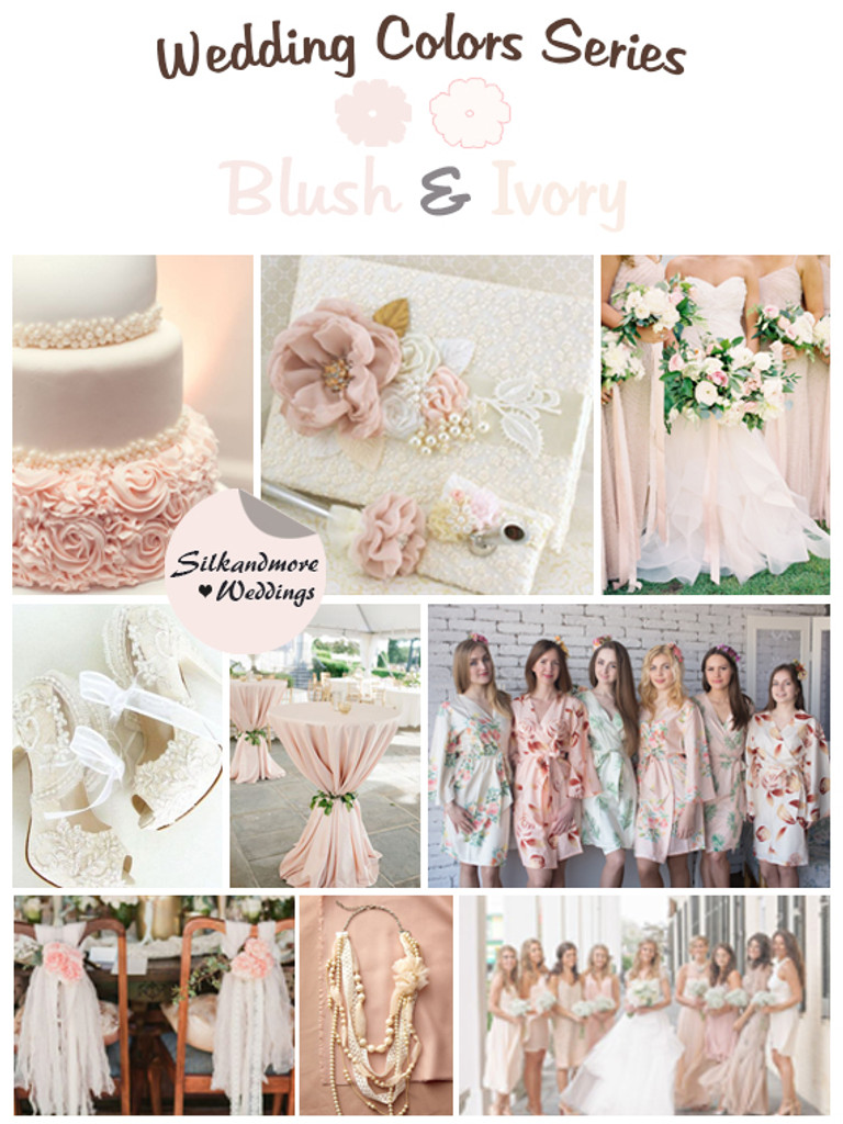 Blush and Ivory Wedding Color Palette
