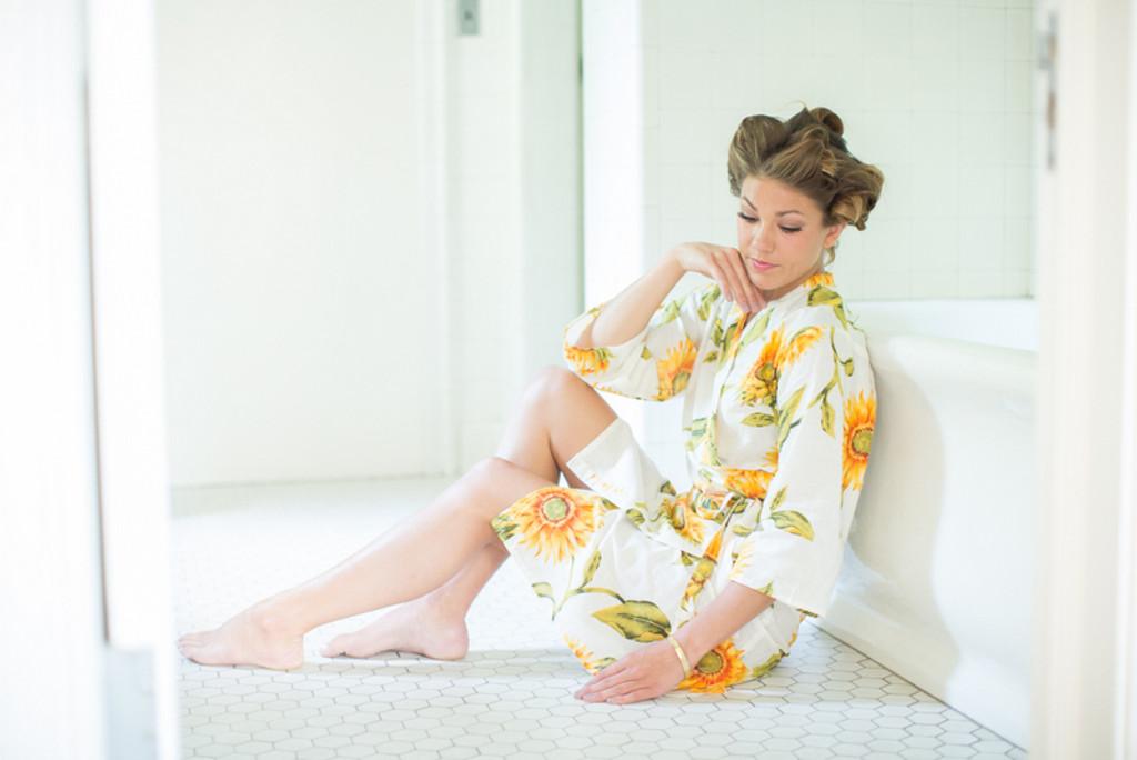 Sunflower Bridesmaids Robes