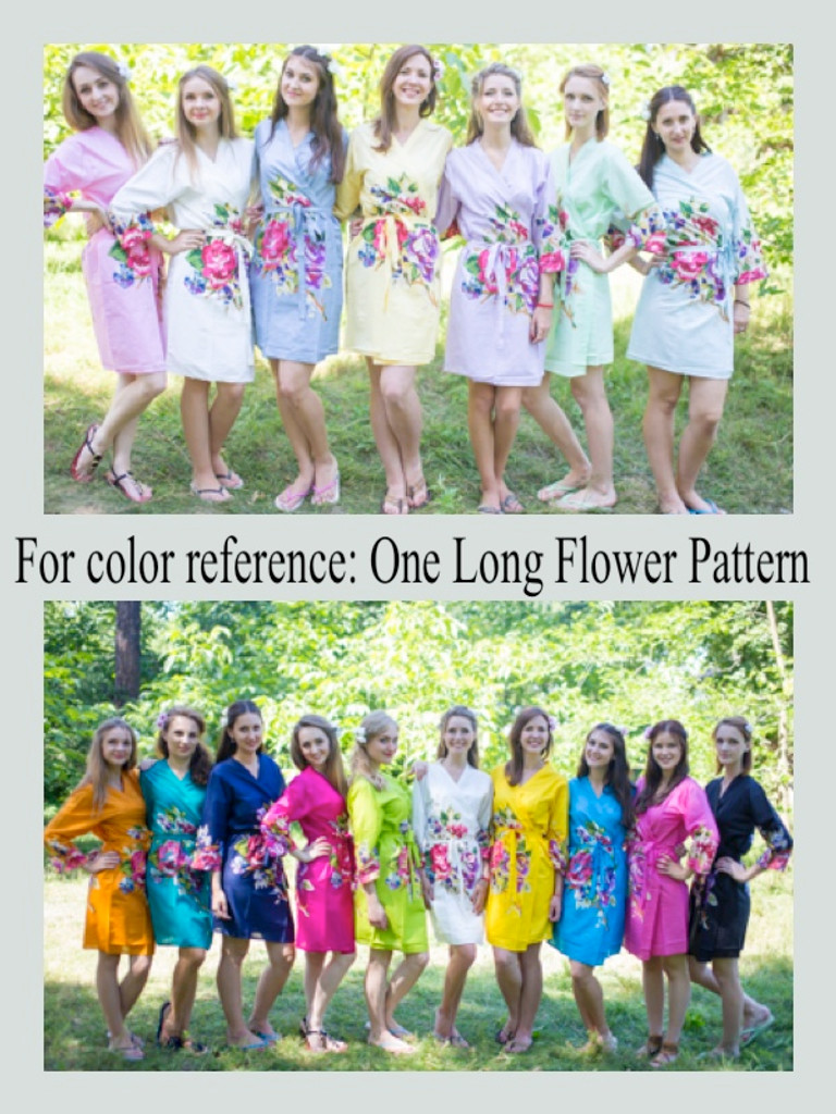 One Long Flower Robes