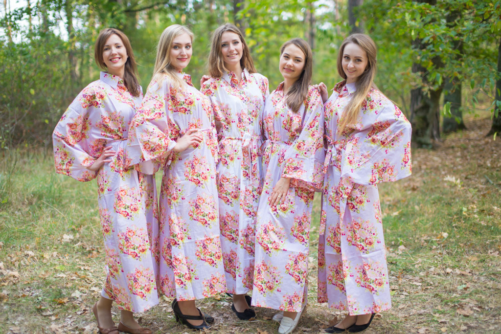 Oriental Delight Style Kaftans for bridesmaids to get ready in