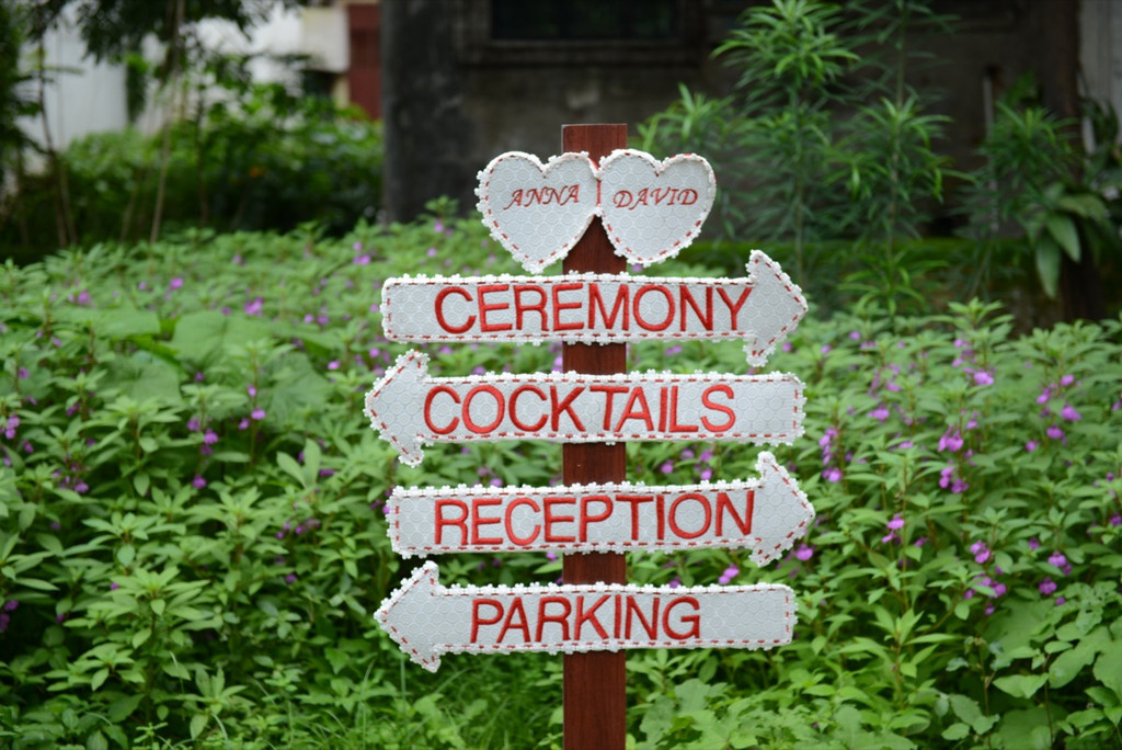 Lace Wedding Signs