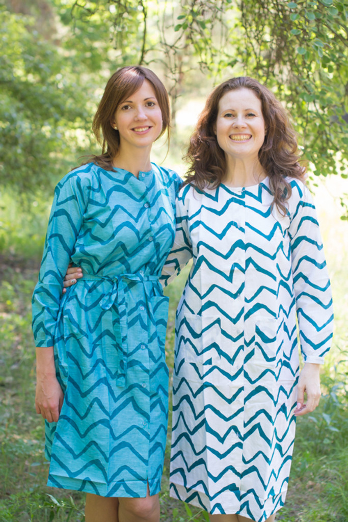 Chevron Housecoats for bridesmaids to get ready in