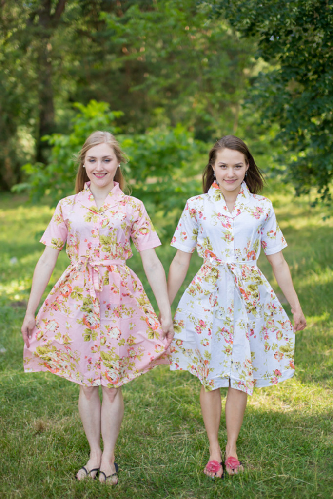 Flower Rain Housecoats for bridesmaids to get ready in