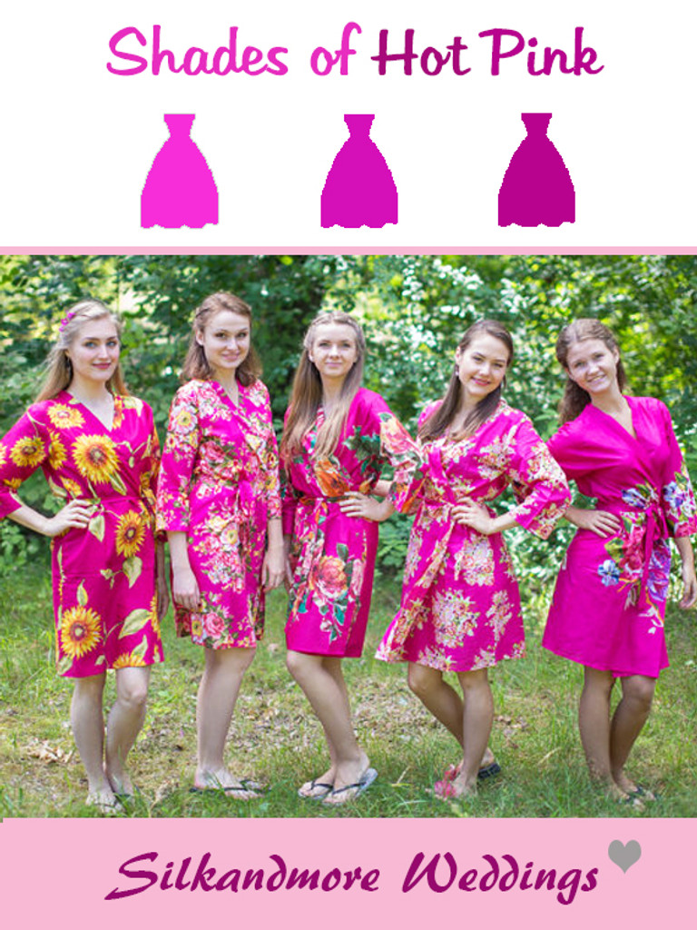 Assorted Magenta Robes | SilkandMore Robes