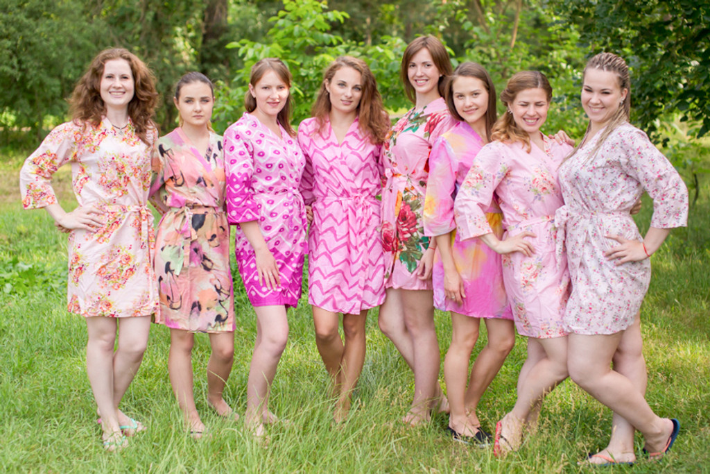 Assorted Pink Series | SilkandMore Robes