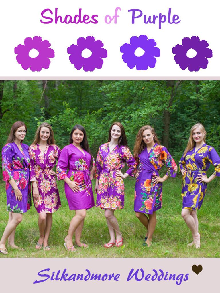 Assorted Purples | SilkandMore Robes