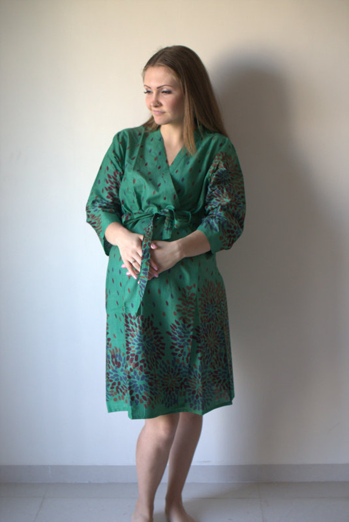 Abstract Floral Maternity Robe
