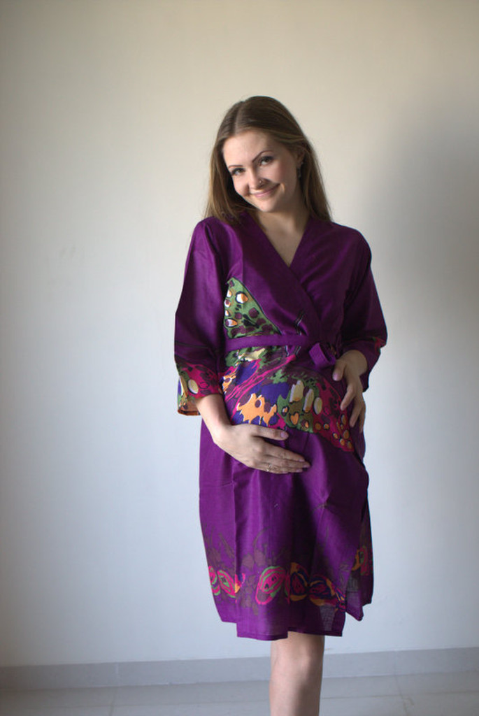 Big Butterfly Maternity Robe