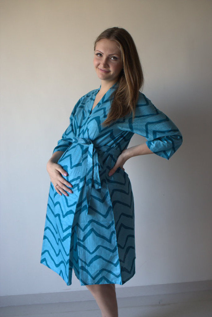 Chevron Maternity Robe