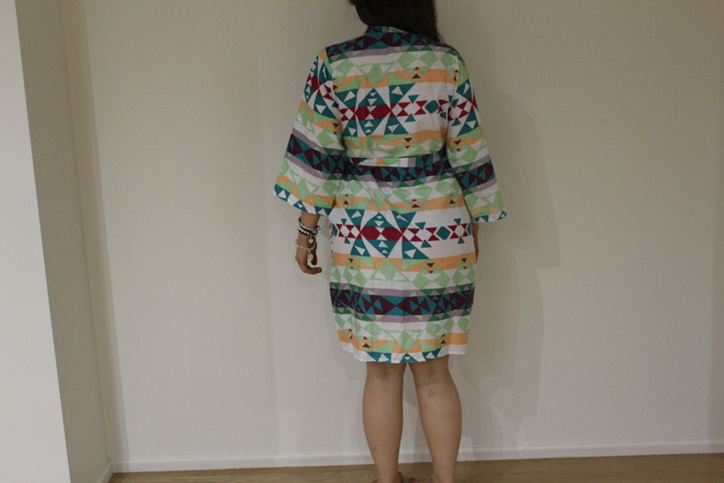 Diamond Aztec Maternity Knee Length Robe